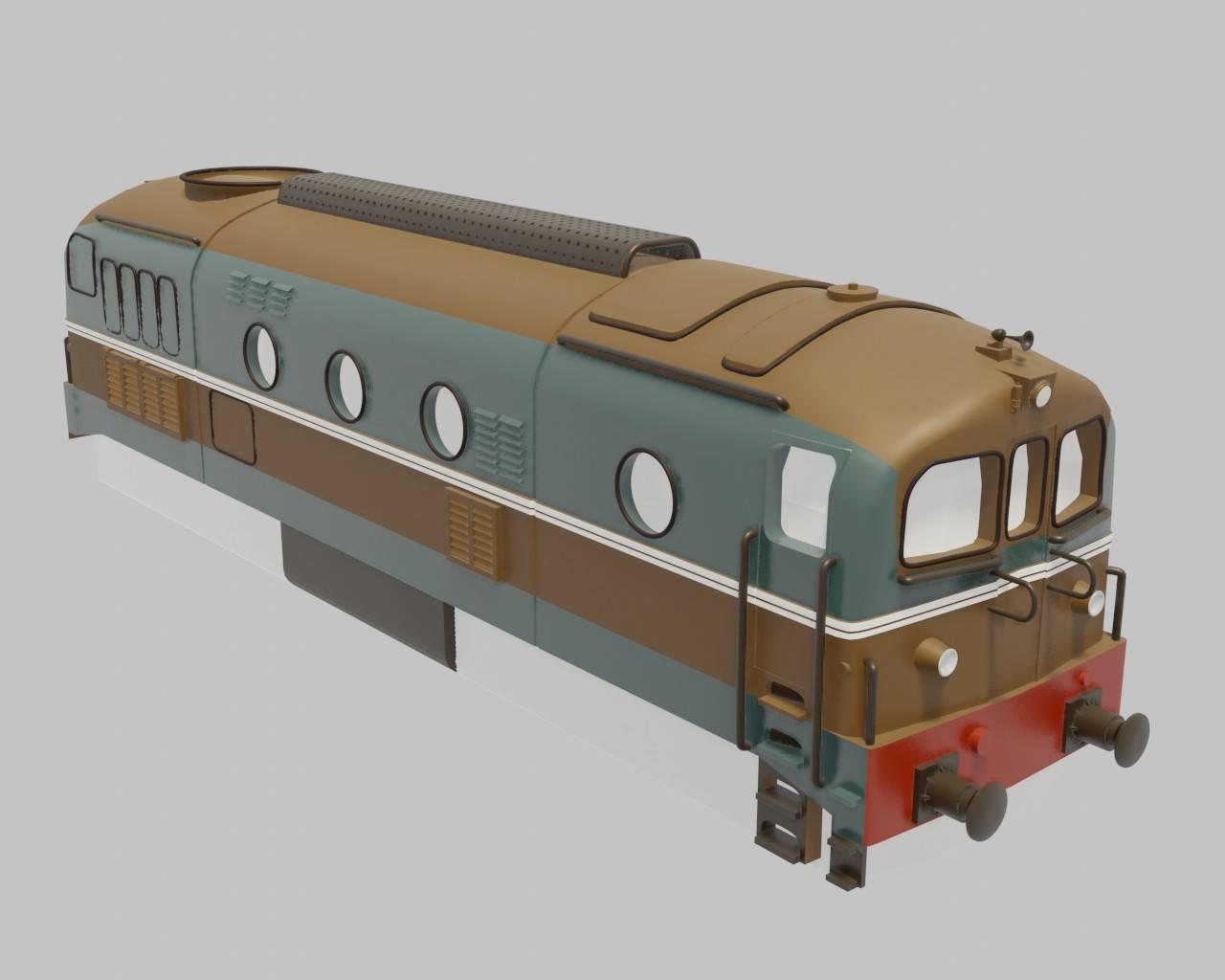 Locomotiva FS D341 in scala HO