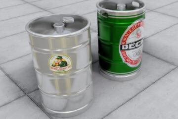LavoriVirtuali - Fusti di birra in scala HO